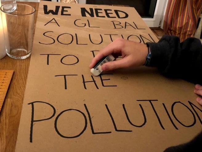 Klimademo-Plakat
