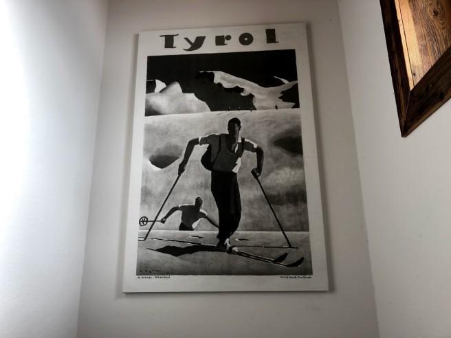 Poster eines Skifahrers
